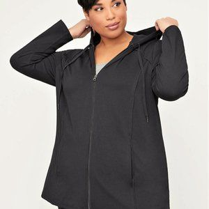 Catherines® Black Front-Zip Yoga Jacket 4x NEW